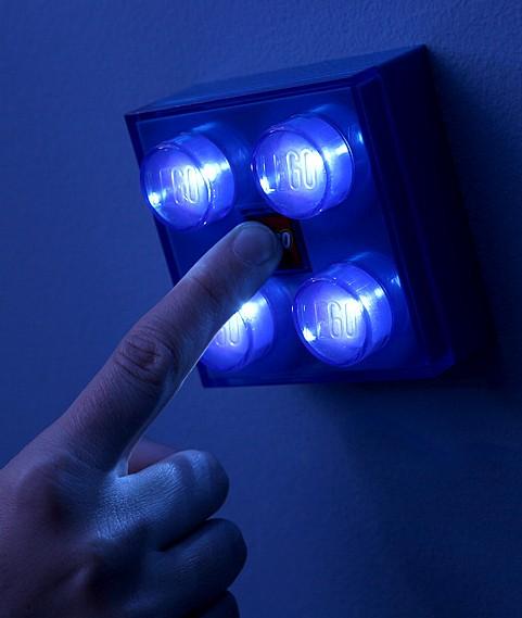 GENUINE LEGO YELLOW LED BRICK LIGHT / NIGHT LIGHT FOR KIDS BEDROOM OR PLAYROOM eBay